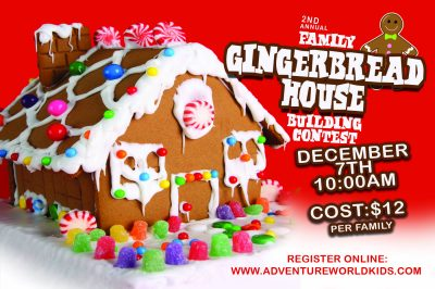 Family Gingerbread House Building Contest